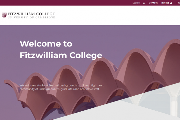 Fitzwilliam College, University of Cambridge - website hompage