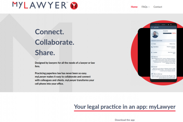 myLawyer - web app - home page