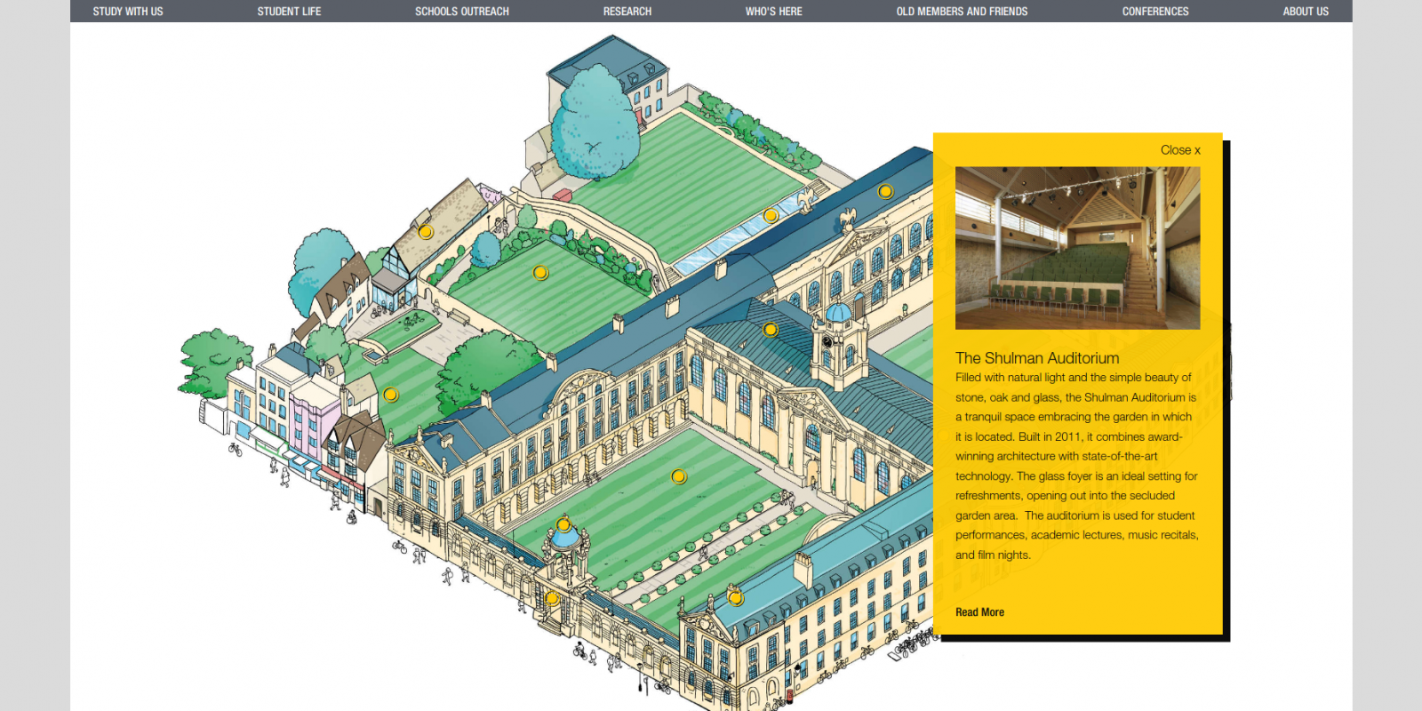 The Queen's College, University of Oxford - website - interactive map