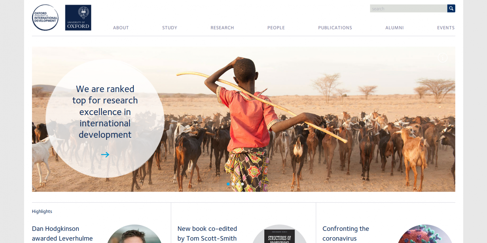 Oxford Department of International Development - website homepage