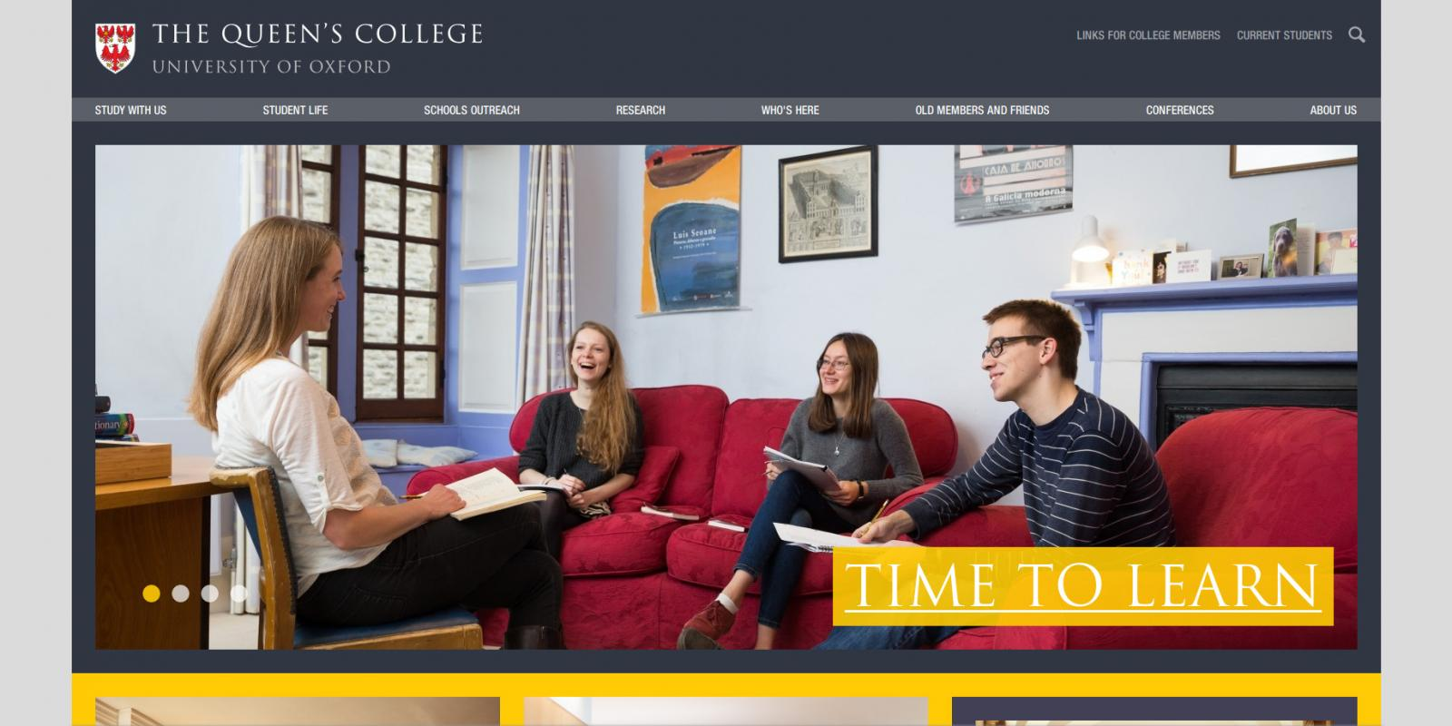 The Queen's College, University of Oxford - website homepage
