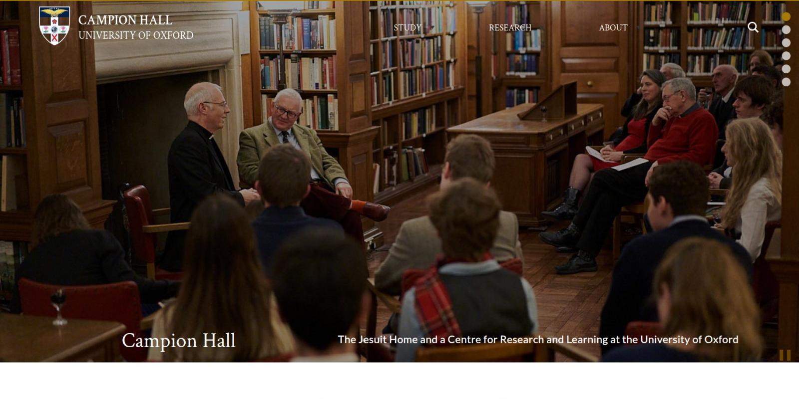 Campion Hall - University of Oxford - website homepage banner