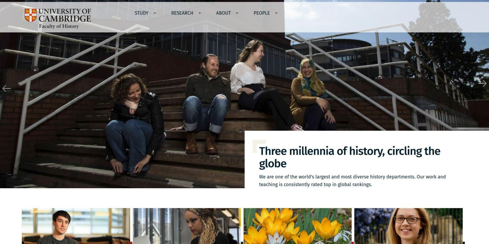 Faculty of History - University of Cambridge - website homepage