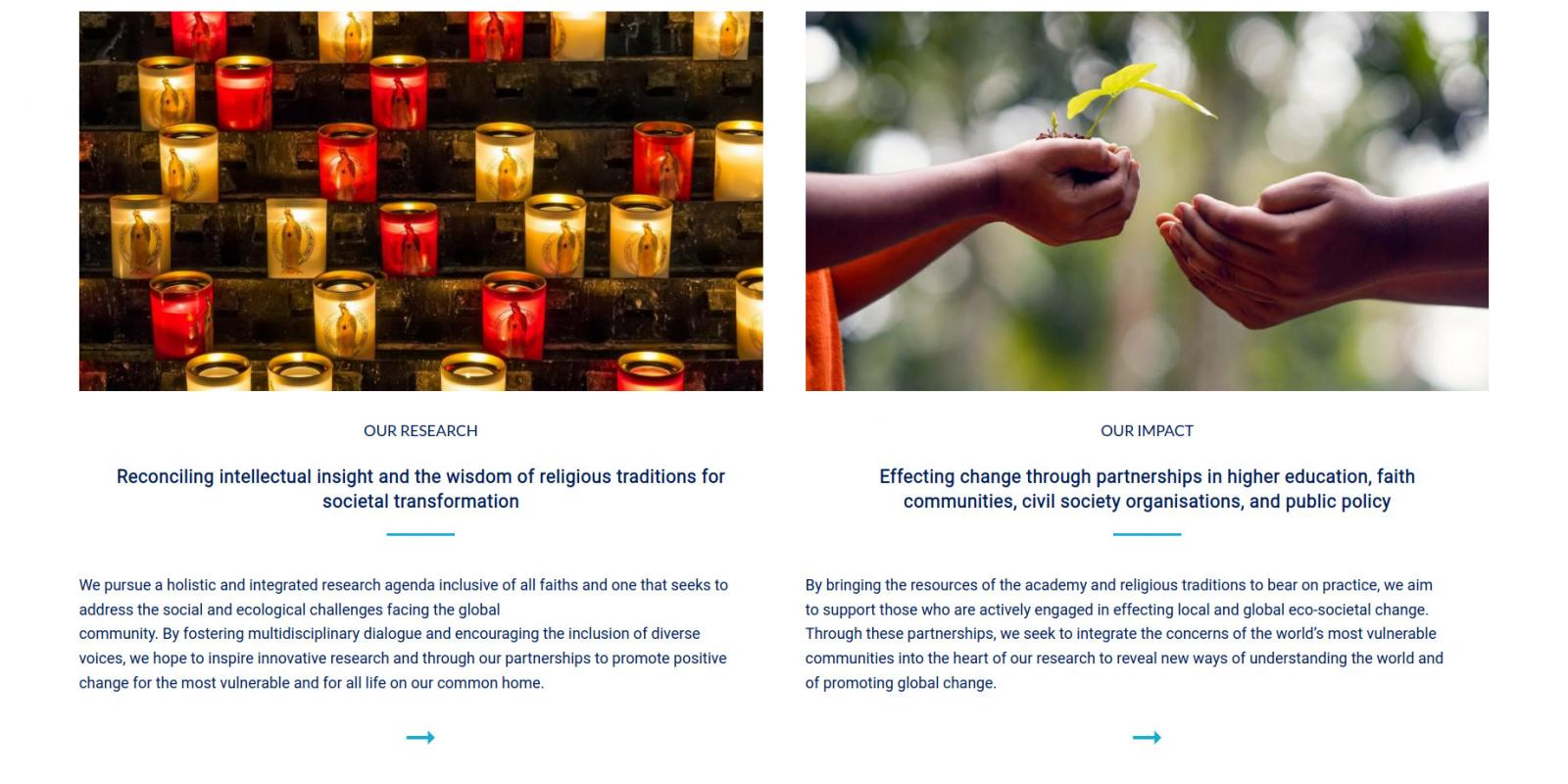 Laudato Si Research Institute - University of Oxford - website homepage