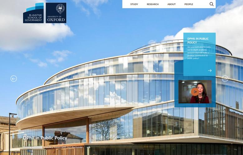 Blavatnik School of Government - University of Oxford - website hompage