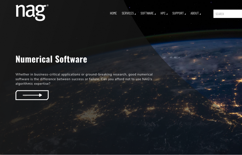 Numercial Algorithms Group - website homepage